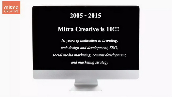 Mitra Creative - 10 years of web design and development, branding, SEO, social media and more